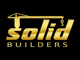 Construction logo solid builders