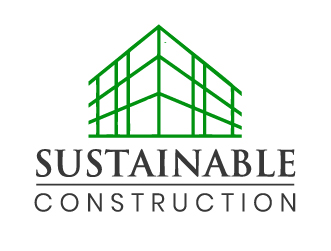Construction sustainable logo
