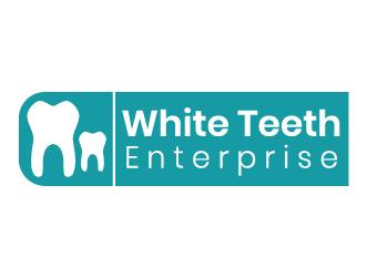 Dental logo white teeth