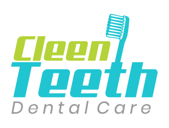 Dental logo cleen teeth