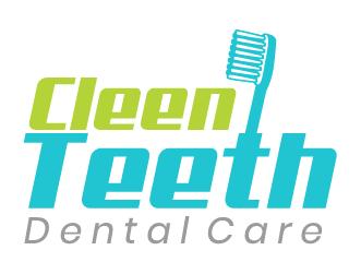 Dental logo cleen teeth