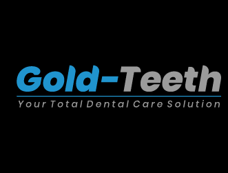 Dental logo gold teeth