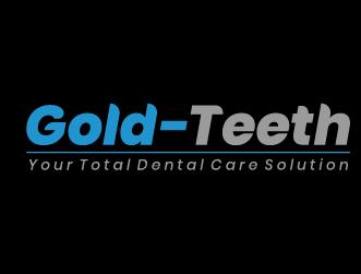 Dental logo gold teeth