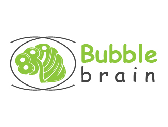 Education logo bubble brain