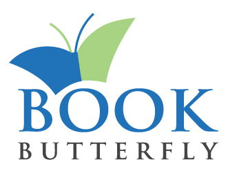 Education logo book butterfly