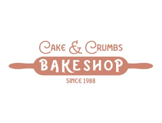 Rolling pin for cake & crumbs bakershop since 1988